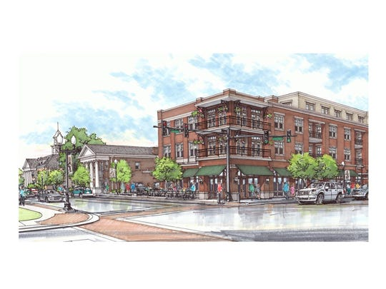 Rendering of the new mixed-use project slated for downtown
