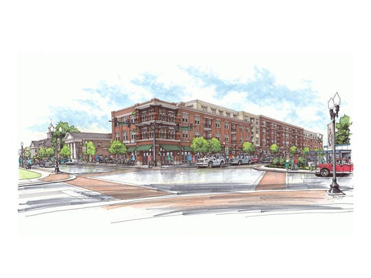 Renderings of the Harpeth Square development in downtown