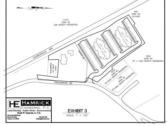 Potential site plans for the apartments.