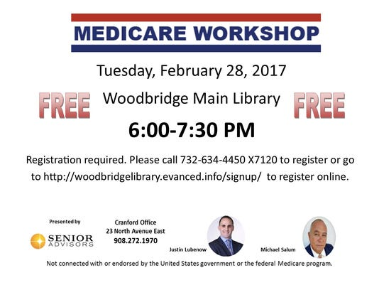 Heartbeats: Medicare workshop on Feb. 28 PHOTO CAPTION