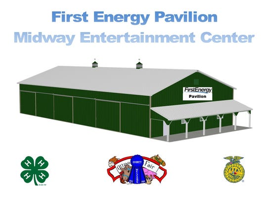 First Energy has donated $10,000 to the Ottawa County Agricultural Society for naming rights of the new entertainment center.