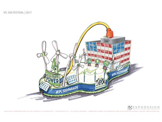 """IPL's entry in the 2017 IPL 500 Festival Parade, """"Accelerate Power."""""""