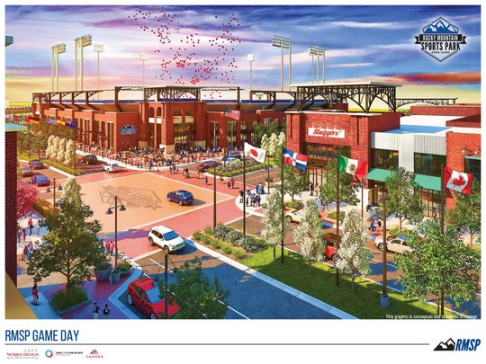 "A rendering of the ""stadium district"" of the Rocky Mountain Sports Park, a $225 million facility planned for the north side of Windsor."