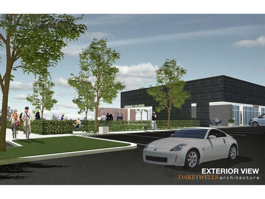 A rendering of a planned development at the intersection of Sunshine Street and National Avenue.