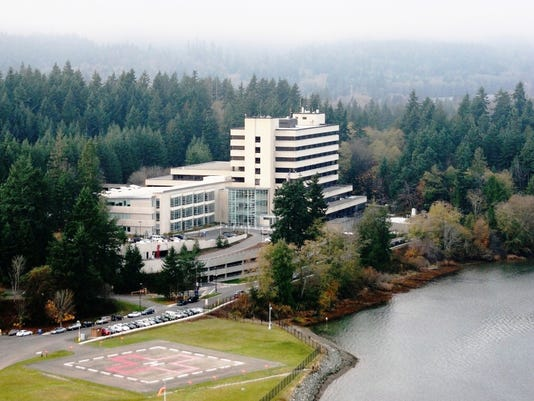 An aerial view of Naval Hospital Bremerton