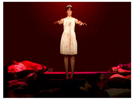 "Rhino Theatre presents ""Carrie"" the musical from Jan."