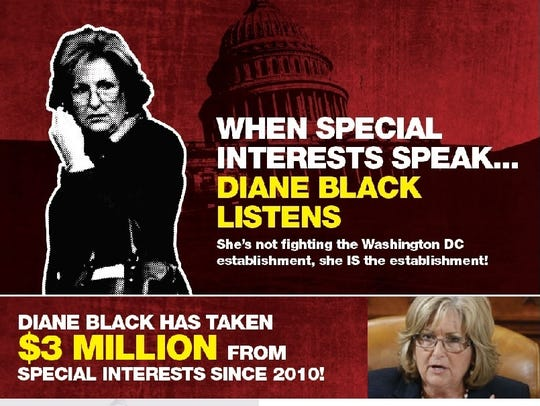 Part of a Power of Liberty ad targeting U.S. Rep. Diane