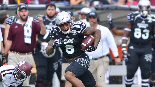 Mississippi State wide receiver Donald Gray finished second on the team last year in receptions, yards and touchdowns.