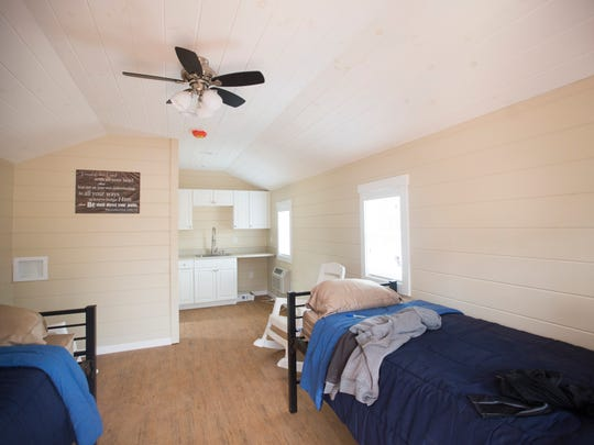 The interior of one of the Opportunity Village homes at the Dream Center  in Easley.