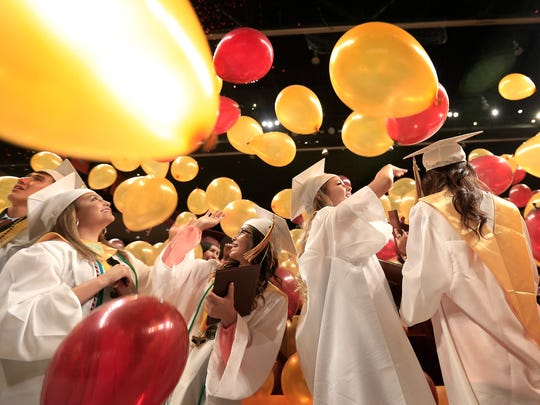 Andress High School celebrated their 2018 graduation ceremony at the Don Haskins Center.