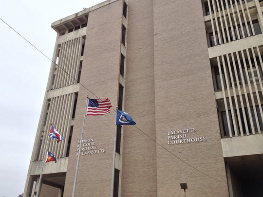 The Lafayette Parish district courthouse is shown in