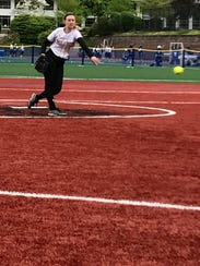 Paramus Catholic senior pitcher Katie Kudlacik had