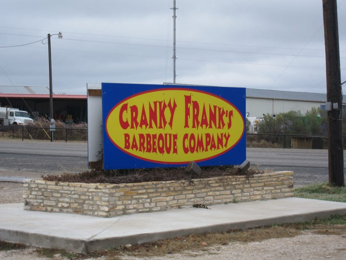 Cranky Frank's sits roadside along Highway 87 just outside downtown Fredericksburg, Texas.