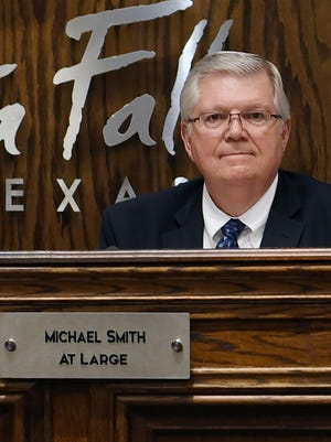 In this file photo from 2018, Michael Smith is seen at his last council meeting after serving in the At-Large position. After sitting out for two years, Smith said he's ready to give it another go and filed to run in the November election for the District 1 seat.
