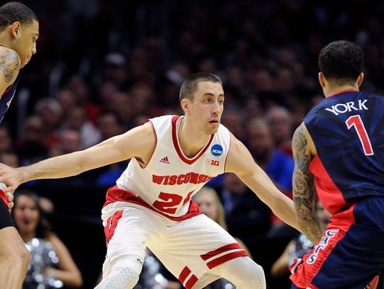 March 28, 2015: Wisconsin Badgers guard Josh Gasser