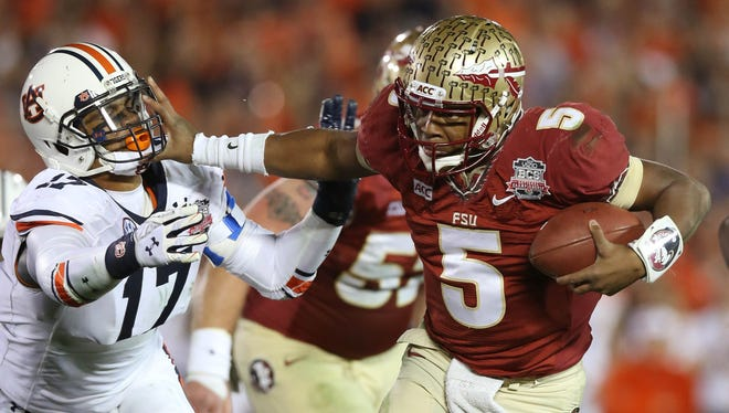 Florida State quarterback Jameis Winston, right, the reigning Heisman Trophy winner, gives the Seminoles a great shot at contending for another national championship next season.