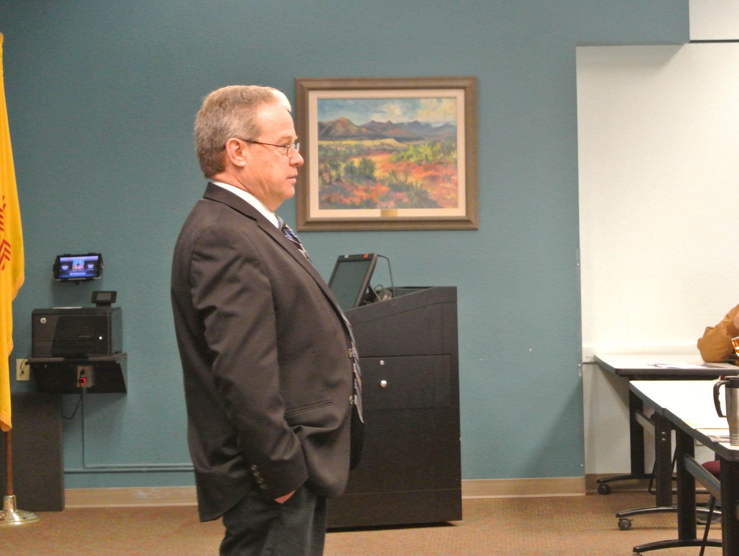 Department of Transportation Secretary Tom Church listens