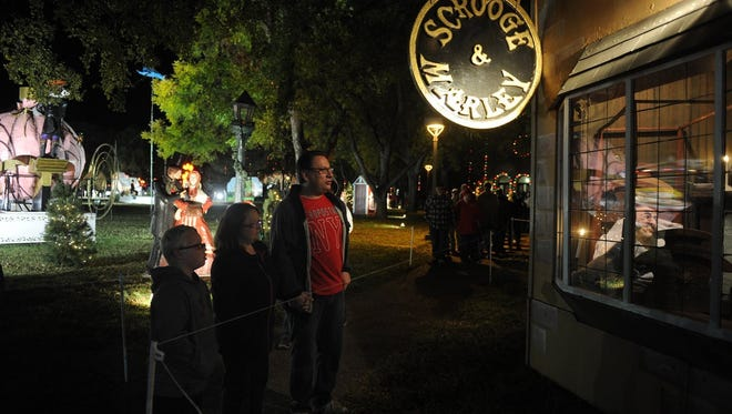 Scrooge will be waiting for visitors Monday at the MSU-Burns Fantasy of Lights.
