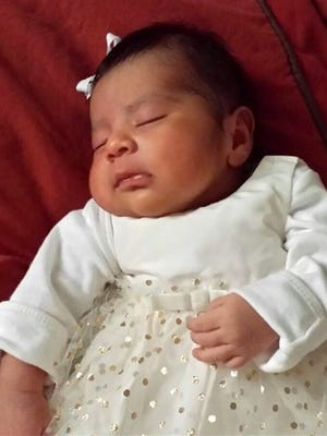 Missing baby Eliza Delacruz is seen in an undated photo provided by the Long Beach Police Department.