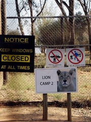 """A general view of an enclosure of the Lion Park, in Johannesburg, South Africa, Tuesday, June 2, 2015. The South African wildlife park where a lion killed Rye native Katherine """"Katie"""" Chappell has remained open."""