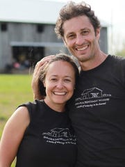 Katy Groves-Mussat and Hubert Mussat, the owners of Farmer and Frenchman Winery.