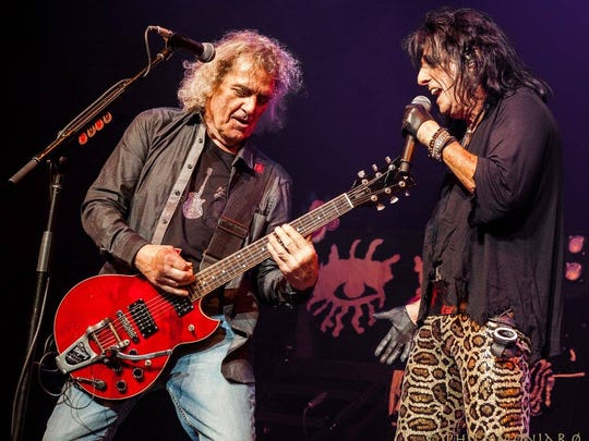 Michael Bruce and Alice Cooper