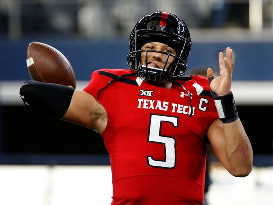 Texas Tech QB Patrick Mahomes II before Tech played