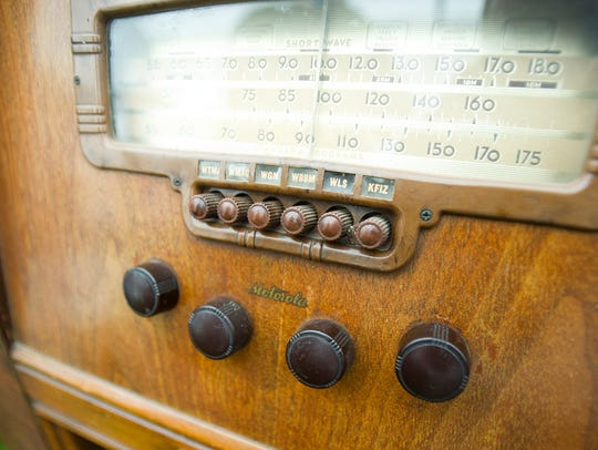 A old cabinet radio were among the finds at the Fond