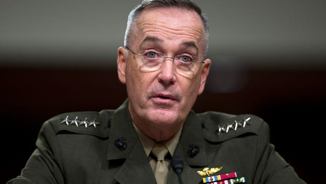 Marine Gen. Joseph Dunford,  the chairman of the Joint Chiefs of Staff.