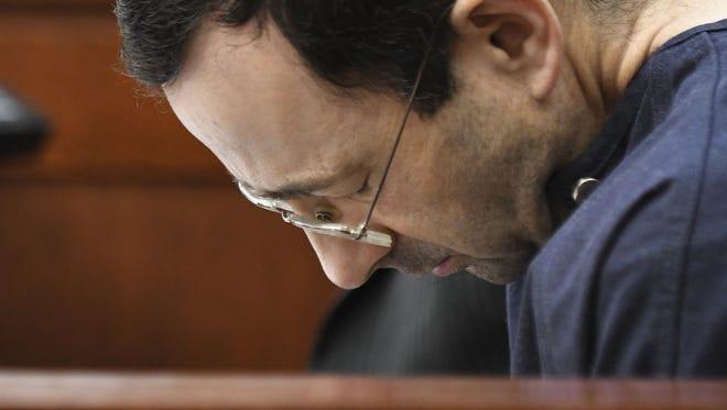 Lassar Nassar during his sentencing for sexual abuse.