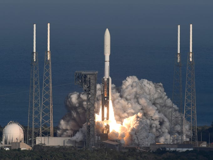 A United Launch Alliance Atlas V rocket lifts off from