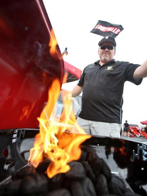 U of L fans were tailgating early for Monday's Miami game.