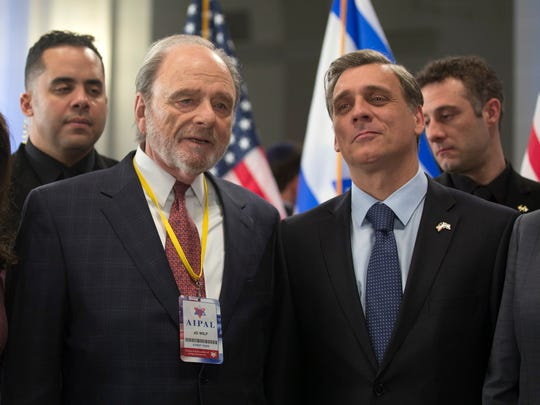 "Jo Wilf (Harris Yulin, left) and Micha Eshel (Lior Ashkenazi) are power players in ""Norman: The Moderate Rise and Tragic Fall of a New York Fixer."""
