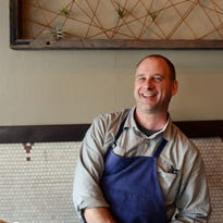 Rhubarb chef and owner John Fleer in the dining room of Rhubarb in 2014.