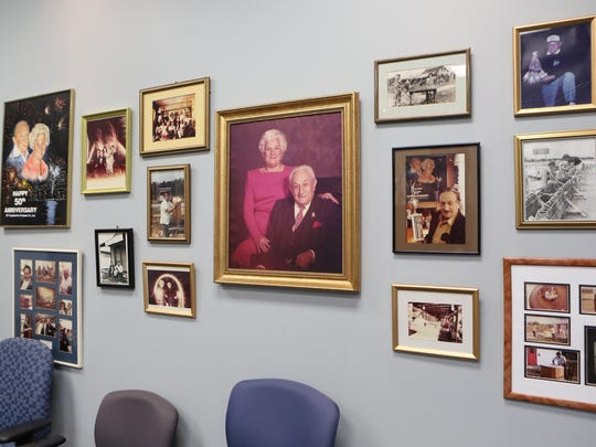 Generations of photos line the walls at the corporate