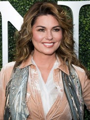 FILE - In this Aug. 28, 2017 file photo, Shania Twain