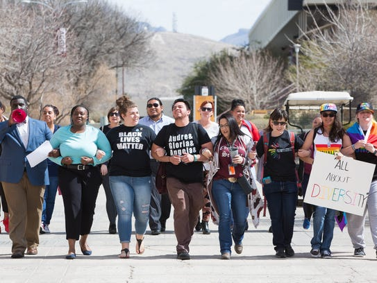 Members of the Black Students Association at New Mexico