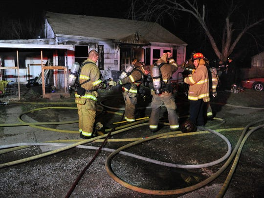 Wichita Falls fire fighters battled a house fire Saturday