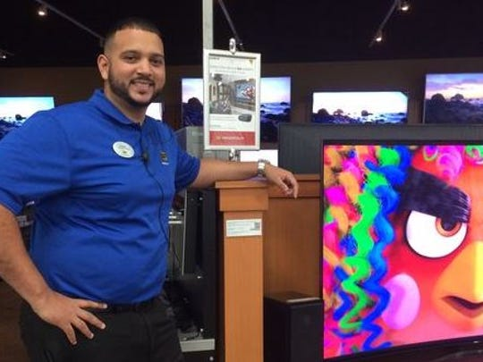 Jordas Reyes, manager of a Best Buy store near Fort