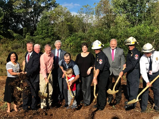 County leaders toss dirt for the new fire station in