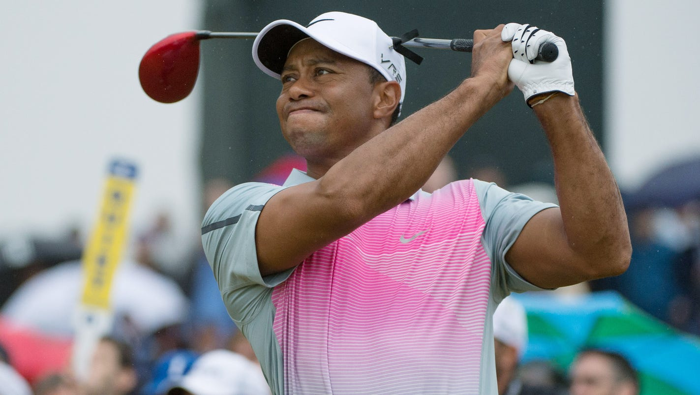 tiger woods crashes after quick start in third round
