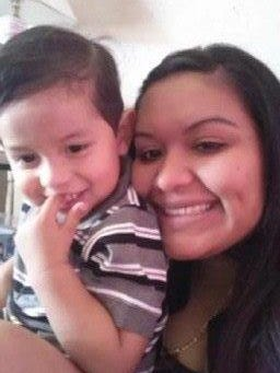 Maria Desantiago, 28, was one of two people killed in January in Mammoth. She's seen here with one of her children.