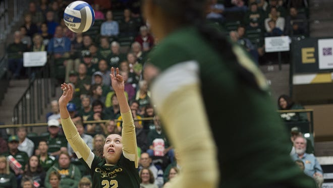 CSU setter Katie Oleksak has been named to the Pacific North All-Region team by the AVCA.