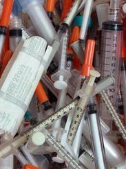 Discarded needles from injection drug users were collected