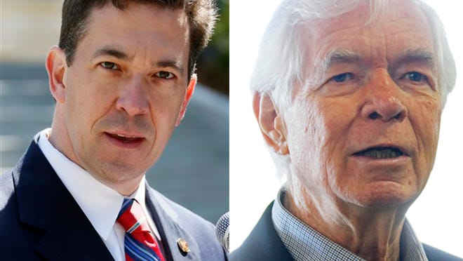 State Sen. Chris McDaniel, left, and U.S. Sen. Thad Cochran will face off in a runoff Republican primary election Tuesday.