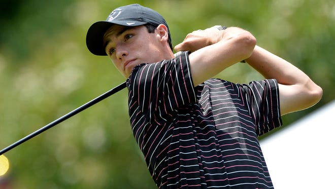 Logan Sowell, the first-round leader in the First Coast Amateur.