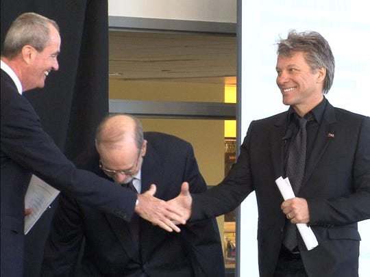 JBJ Soul Foundation board chairman Jon Bon Jovi (right)