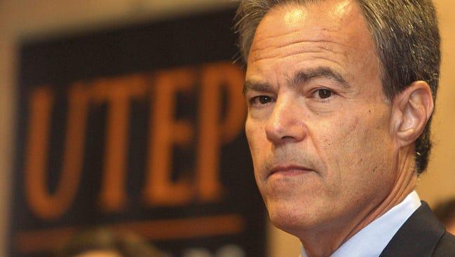 Texas House of Representatives Speaker Joe Straus speaks Monday at UTEP.