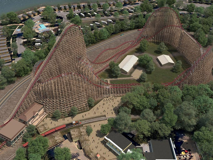 Cedar Point's new Steel Vengeance roller coaster.