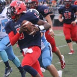Denzel Adams rushed for four touchdowns in Thursday's victory over Milford.
